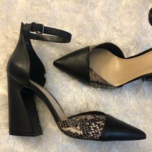 Leather Nine West Heels
